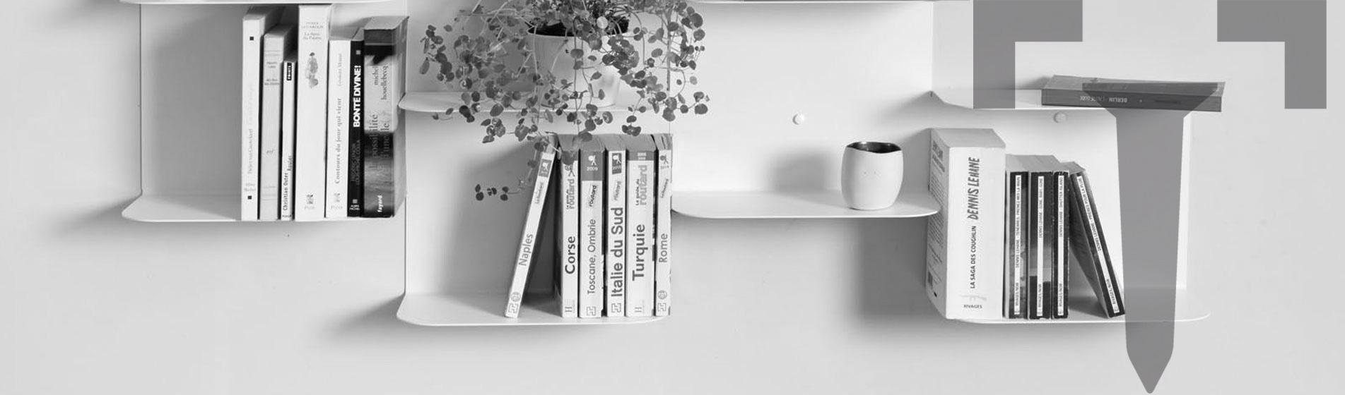 achat petite tag re murale troite paris teebooks. Black Bedroom Furniture Sets. Home Design Ideas